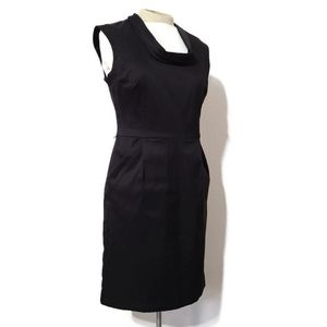 Ann Taylor black shift dress with pockets